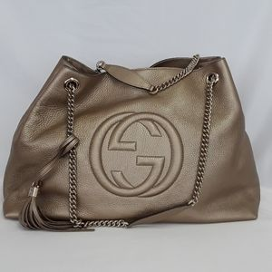New in Bag GUCCI 310306 Soho gold leather tote bag